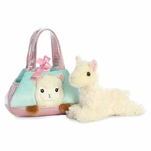 Aurora Peek a Boo-Llama Plush Pet Carrier Purse Perspective: front