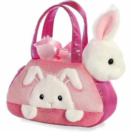 "Aurora World Inc. 7"" PEEK-A-Boo Bunny Fancy Pal Pet Carrier Perspective: front"