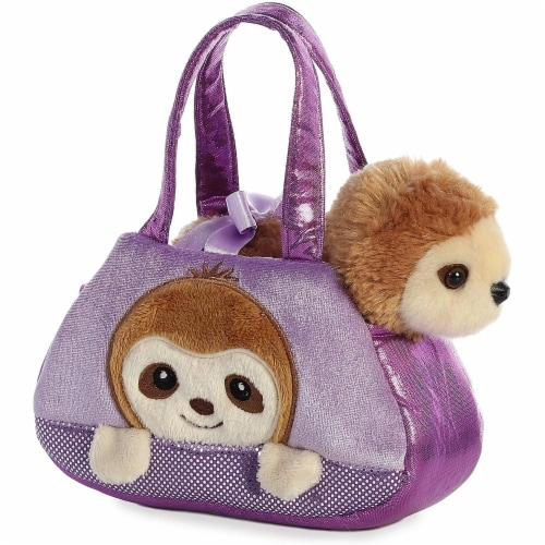 "Aurora - Pet Carrier - 7"" Peek-A-Boo Plush Sloth Perspective: front"