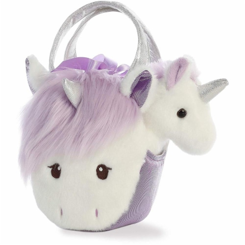 "Aurora World Inc. 7"" Heather Unicorn Fancy Pal Perspective: front"