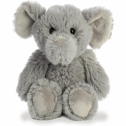 Aurora Elephant Plush, Grey Perspective: front