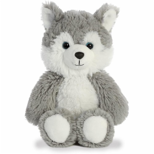 Aurora Husky Plush, Grey Perspective: front