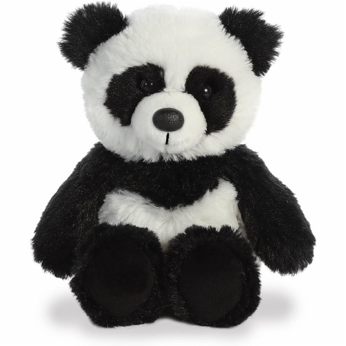 Aurora Panda Plush, White/Black Perspective: front