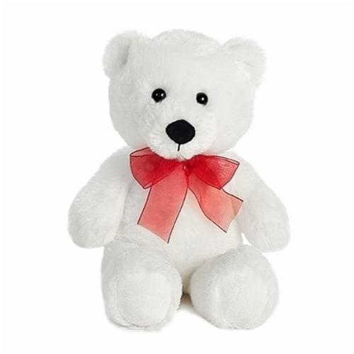 """Aurora White Valentine Bear, 10.5"""" Perspective: front"""