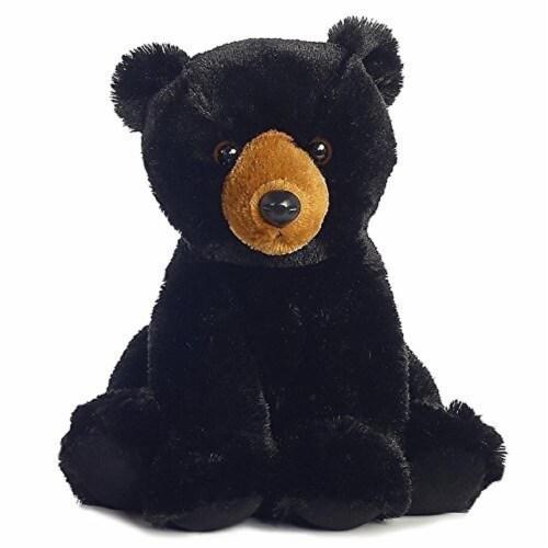 "Aurora World 12"" Plush Black Bear Perspective: front"