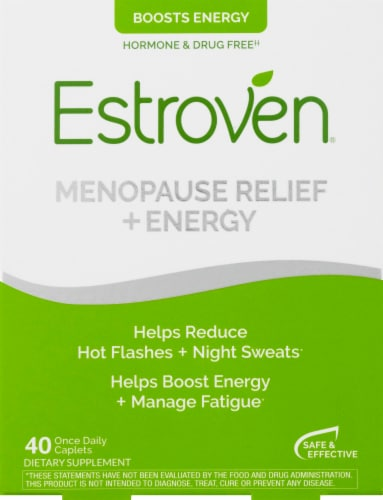 Estroven Menopause Relief & Energy Caplets Perspective: front
