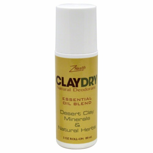 Zion Health ClayDry Natural Deodorant Perspective: front