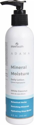 Zion Health  Adama Mineral Moisture Daily Lotion White Coconut Perspective: front