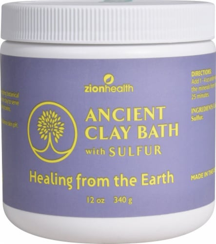 Zion Health  Ancient Clay Bath with Sulfur Perspective: front