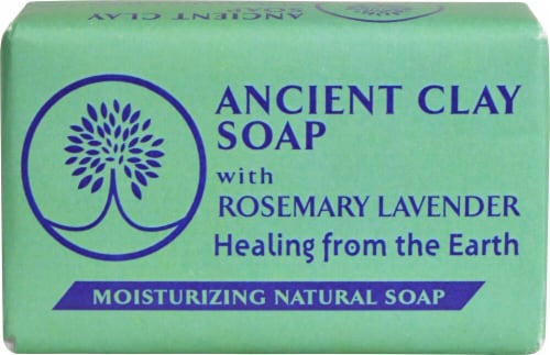 Zion Health Ancient Clay Soap with Rosemary Lavender Perspective: front