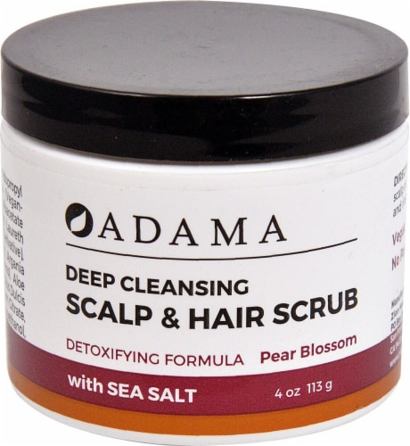 Zion Health  Adama Deep Cleansing Scalp & Hair Scrub Pear Blossom Perspective: front
