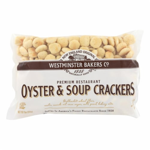 Westminster Cracker Co Oyster & Soup Crackers - Case of 12 - 9 OZ Perspective: front
