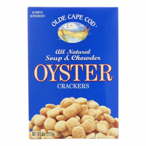 Olde Cape Cod - Oyster Crackers - Trans Fat - 8 oz. - Pack of 3 Perspective: front