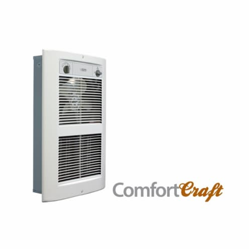 King Electric LPW2045T-S2-WD-R 208V LPW Series 2 ComfortCraft Wall Heater - 4500W, White Dove Perspective: front