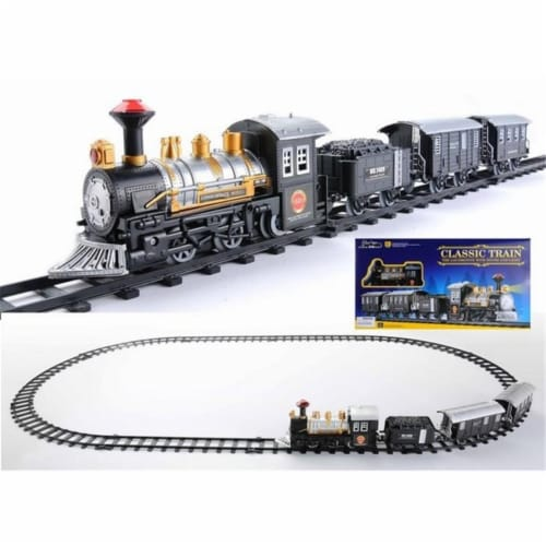 NorthLight Consumate Model Battery Operated Lighted & Animated Classic Train Set with Sound, Perspective: front