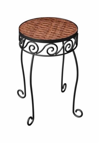 Panacea Products 213684 16.5 in. Brown Plant Stand Perspective: front