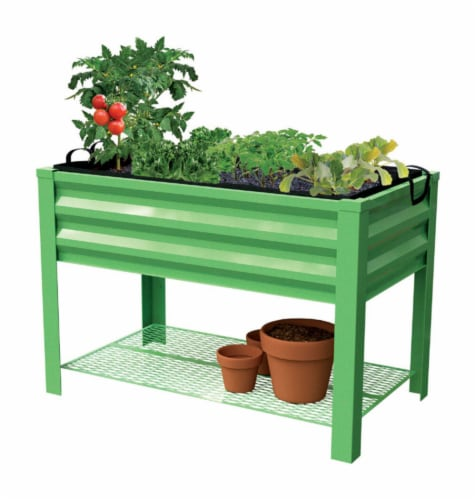 Panacea Products 32 in. H x 46 in. W x 24 in. D Steel Raised Garden Bed Green - Case Of: 1; Perspective: front