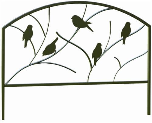 Panacea Perching Birds Garden Edge Fence - Black Perspective: front