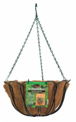 Panacea Steel Hanging Basket Green - Case Of: 1; Perspective: front