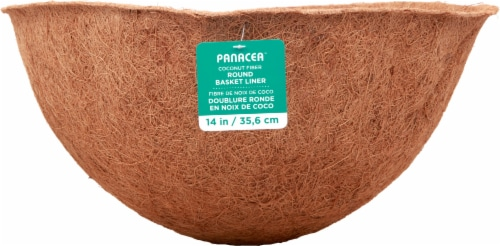 Panacea Round Coco Fiber Replacement Liner - Brown Perspective: front