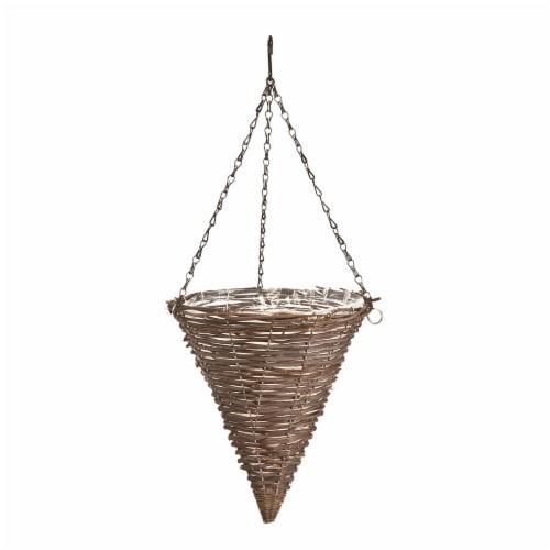 Panacea Rattan Cone Hanging Basket Perspective: front