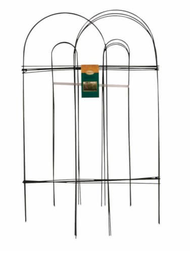 Panacea 10 ft. L x 32 in. H PVC Green Garden Fence - Case Of: 10 Perspective: front