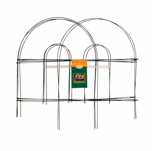 Panacea 10 ft. L x 18 in. H Metal Green Garden Fence - Case Of: 24; Perspective: front