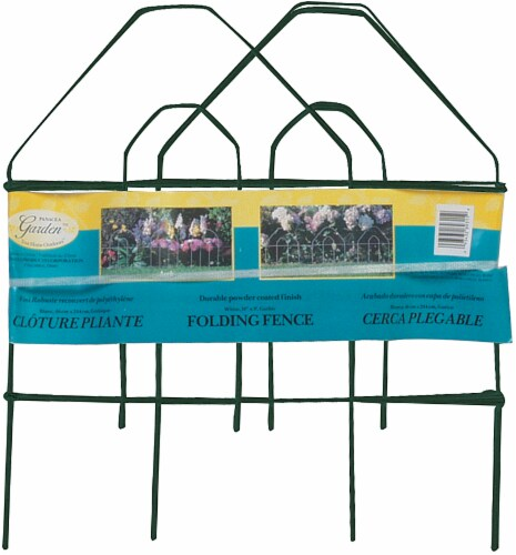 Panacea Gothic Folding Fence - Green Perspective: front