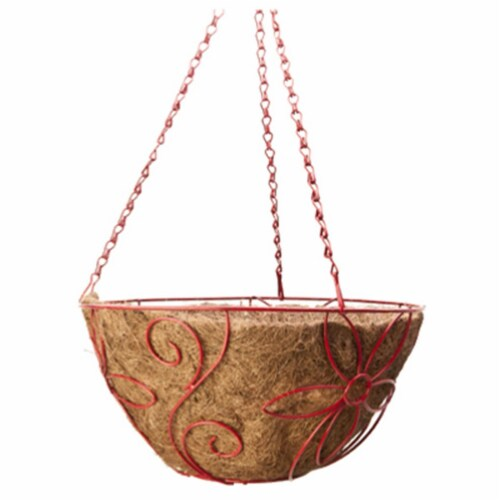 Panacea 90-90065TV Round Daisy Style Hanging Basket Perspective: front