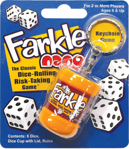 PlayMonster Farkle Nano Keychain Game Perspective: front