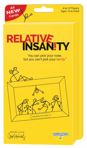 Playmonster Relative Insanity Expansion Pack Perspective: front