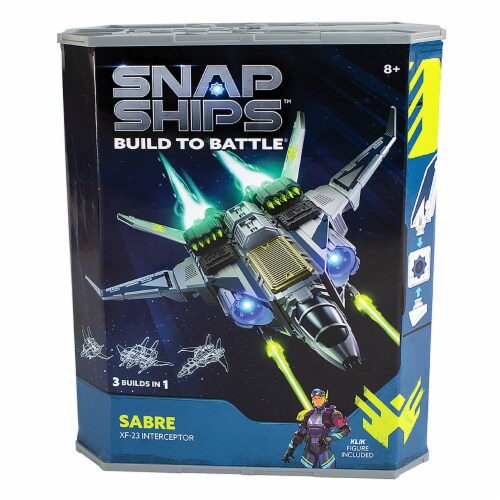 Snap Ships Sabre XF-23 Interceptor Building Toy Perspective: front