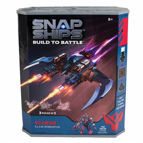 Snap Ships Scarab K.L.A.W. Interceptor Building Toy Perspective: front