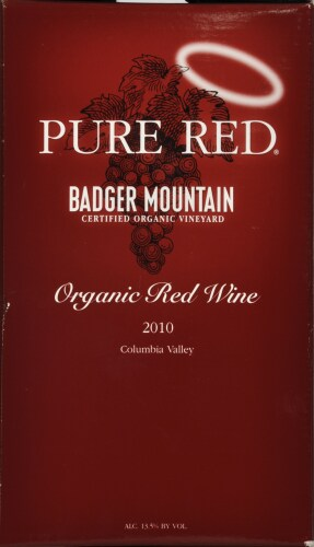 Badger Mountain Pure Red Wine Perspective: front