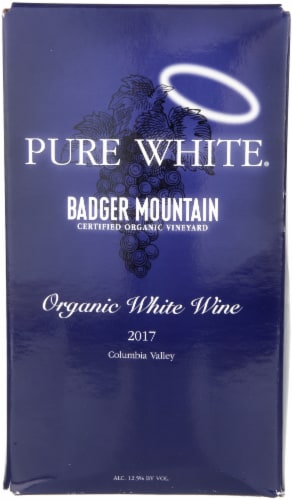 Badger Mountain Organic Pure White Wine Perspective: front