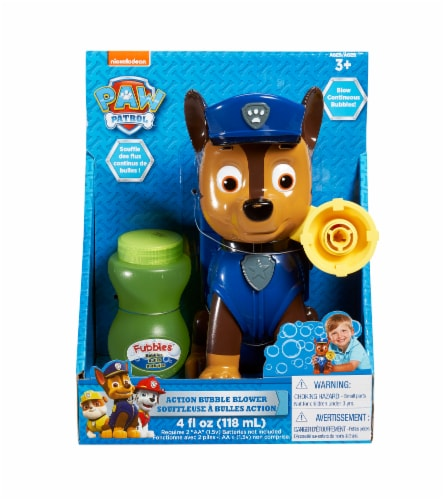 Paw Patrol Chase Action Bubble Blower & Bubble Mix Perspective: front