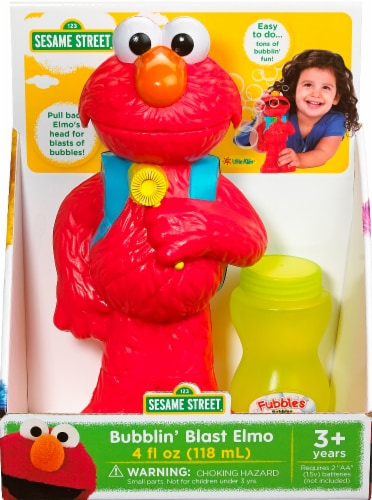 Sesame Street Bubblin' Blast Elmo & Bubble Solution - Red Perspective: front
