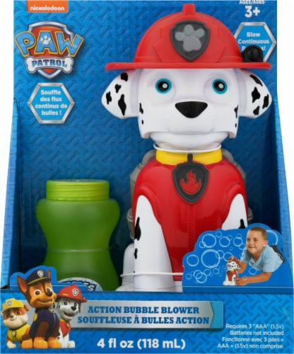Paw Patrol Marshall Action Bubble Blower & Bubble Mix Perspective: front