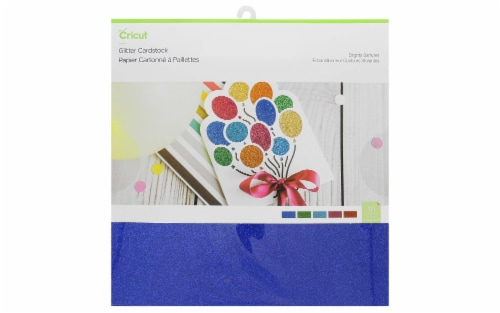 Cricut Glitter Cardstock Smplr 12X12  10pc Brights Perspective: front