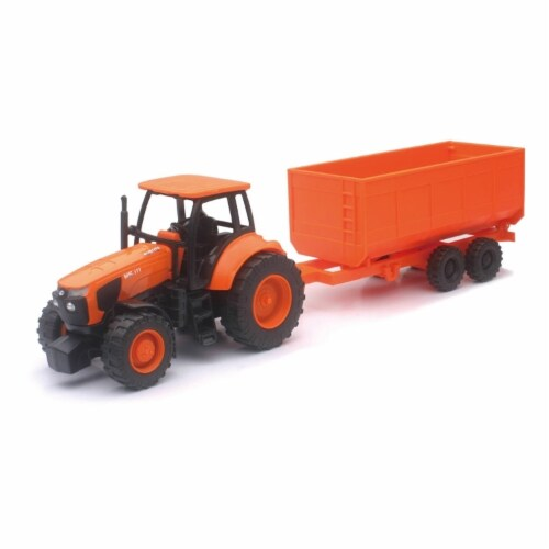 1:32 Kubota Farm Tractor And Trailer Perspective: front