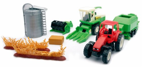 Country Life Harvester Farming Playset Perspective: front