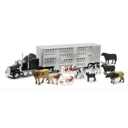 Livestock Hauler with Farm Animals Set Perspective: front
