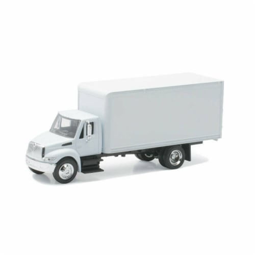 1:43 Scale Die-Cast White International 4200 Straight Truck Perspective: front