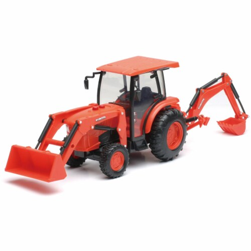B/O 1:18 Kubota Farm Tractor W/Loader And Backhoe(L&S) Perspective: front