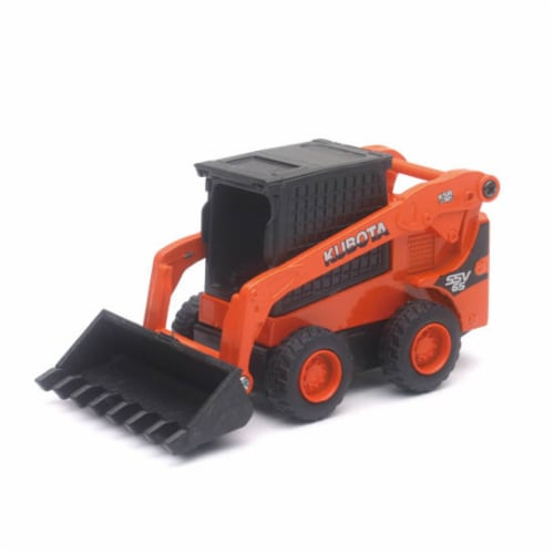 Die-Cast 1:64 Scale, Kubota SSV65 with Pull Back Action Perspective: front
