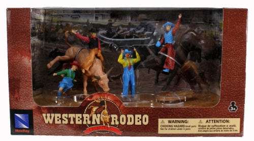 Western Rodeo Playset - Bulls and Clowns Perspective: front