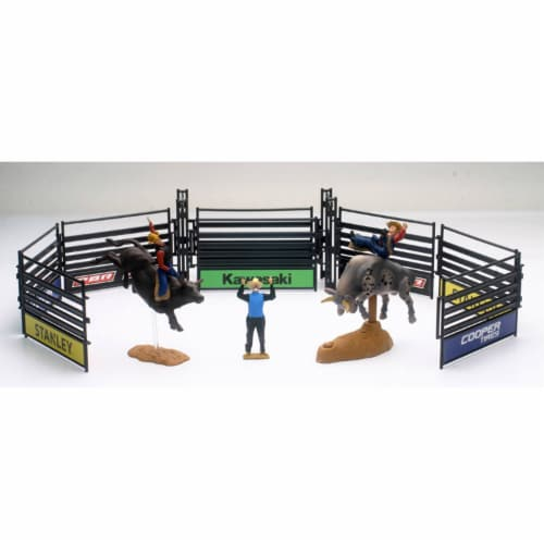 PBR Bull Riding Playset with Gate, Grey Perspective: front