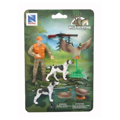 Wild Hunting Duck Action Figures Perspective: front