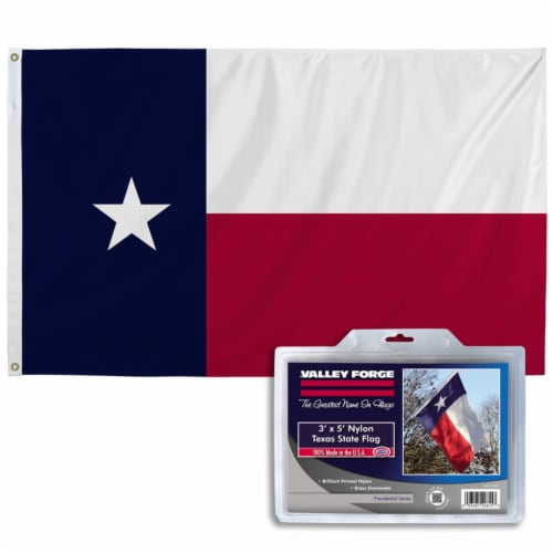 Valley Forge Texas Flag 36 in. H x 60 in. W - Case Of: 1; Perspective: front