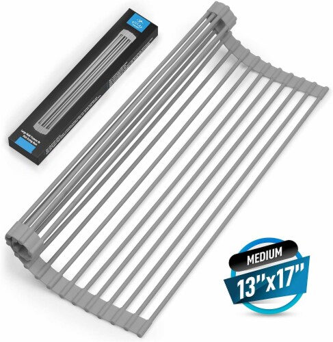 Zulay Kitchen Multipurpose Roll Up Sink Drying Rack & Trivet Extra Large Perspective: front